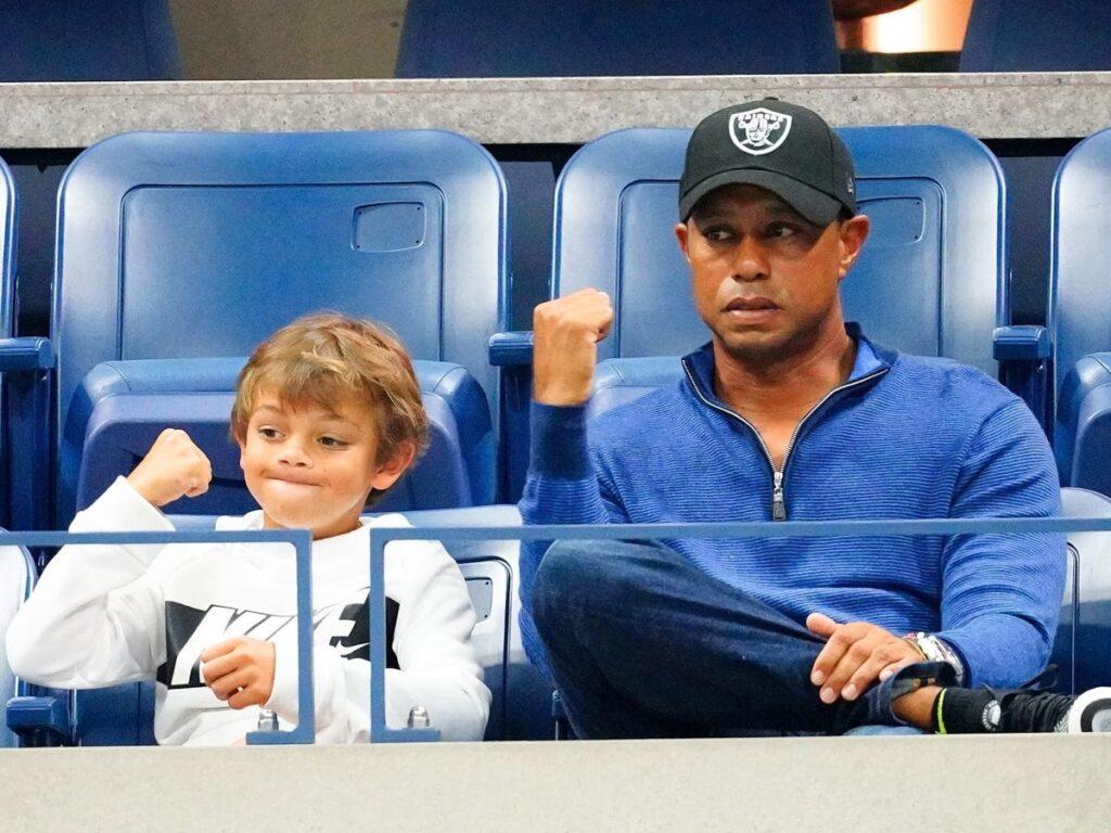 Tiger Woods och sonen Charlie