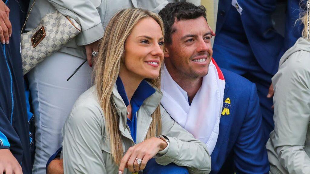 Erica Stoll och Rory McIllroy