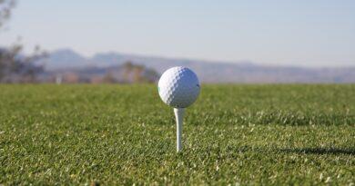 golfboll på peg