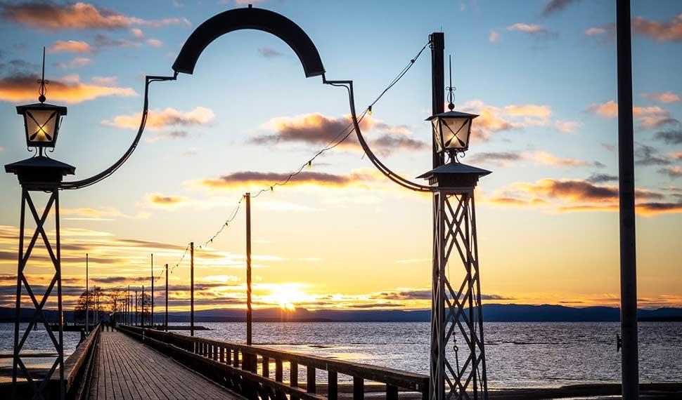 Långbrygga i Rättvik