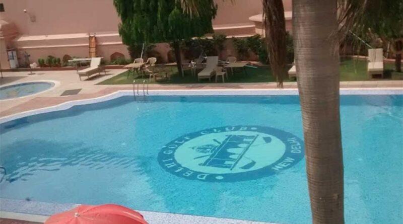 New Delhi golf club pool
