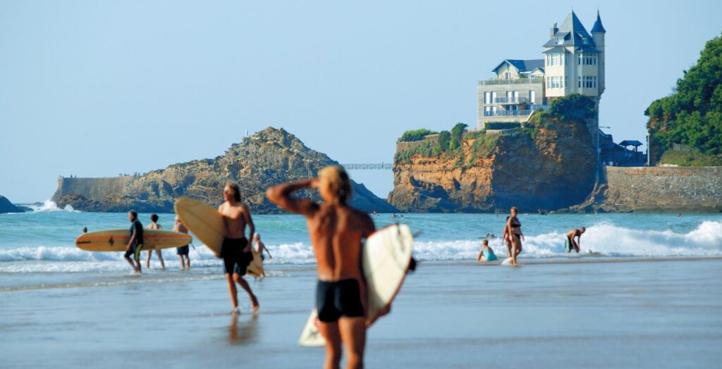 Surfare i Frankrike