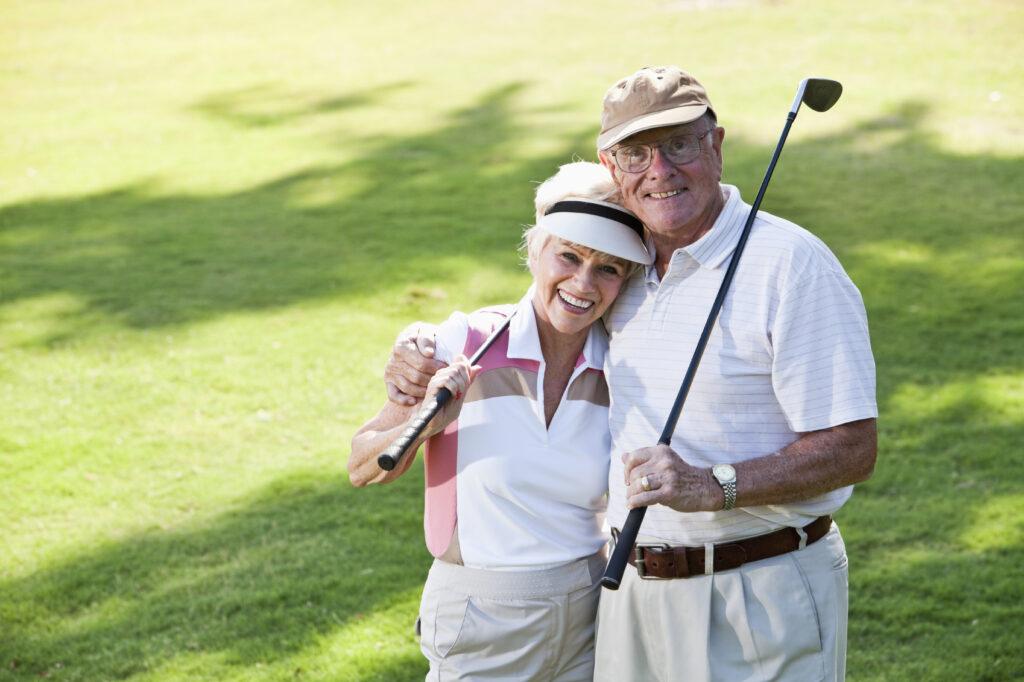 Golfspelare golfpar