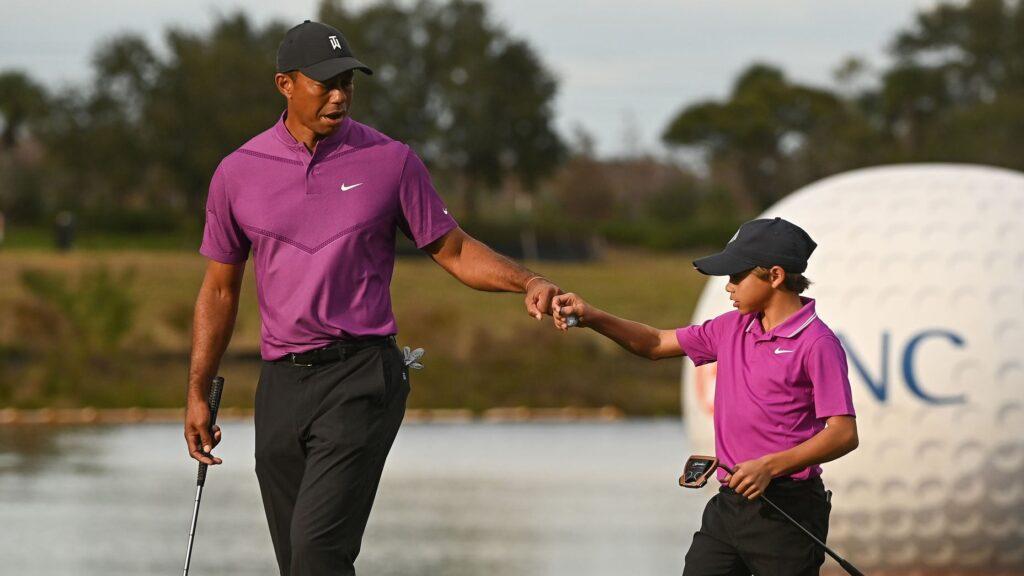 Tiger och Charlie Woods