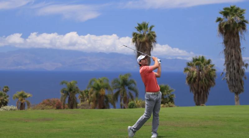 tyska golfspelaren Nicolai von Dellingshausen under Tenerife Open 2021 på Kanarieöarna